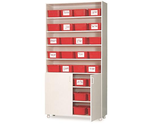 ניס ארון לאחסון 32 מכלים, הארון כולל שתי דלתות. מחיר הארון לא כולל את OL-41
